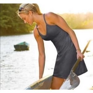 Athleta Gray Shorebreak Swim Dress Size M
